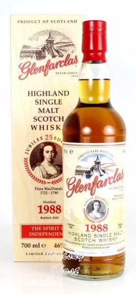 Glenfarclas 1988 / 2020 Edition No. 25 Flora MacDonald 46% Vol. 0,7 Liter - Bild vergrößern
