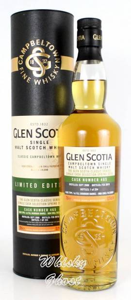 Glen Scotia 2008/2019 Single Cask #465 53% Vol. 0,7 Liter - Bild vergrößern