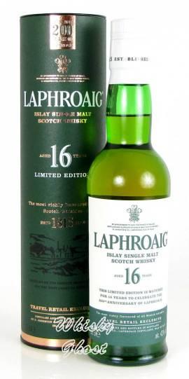 Laphroaig 16 Jahre 43% Vol. 0,35 Liter - Bild vergrößern