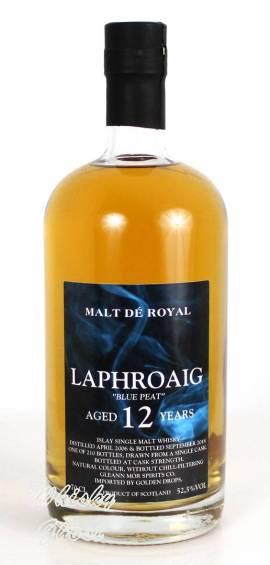 Laphroaig 12 Jahre Blue Peat Malt De Royal 52,5% Vol. 0,7 Liter - Bild vergrößern