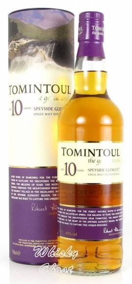 Tomintoul 10 Jahre 40% Vol. 0,7 Liter - Bild vergrößern