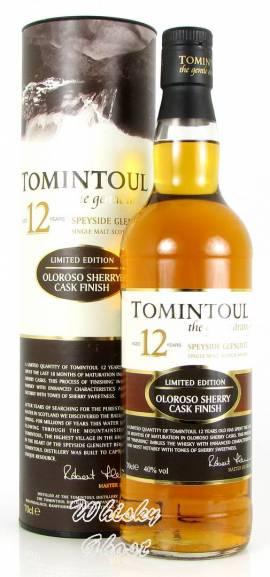 Tomintoul 12 Jahre Oloroso Sherry 40% Vol. 0,7 Liter - Bild vergrößern